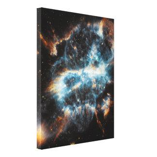 Bright Gaseous Nebula Stretched Canvas Print