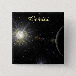 Bright Gemini 15 Cm Square Badge