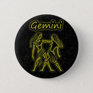 Bright Gemini 6 Cm Round Badge