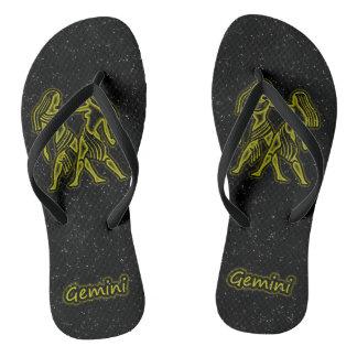 Bright Gemini Flip Flops