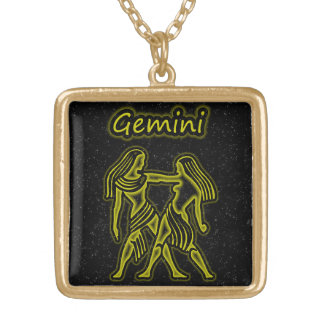Bright Gemini Gold Plated Necklace