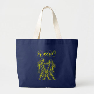 Bright Gemini Large Tote Bag