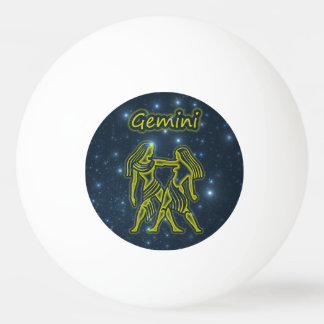 Bright Gemini Ping Pong Ball