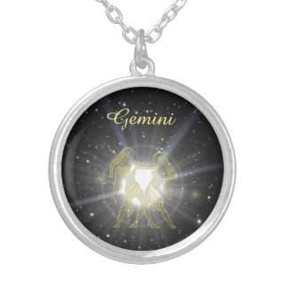 Bright Gemini Silver Plated Necklace