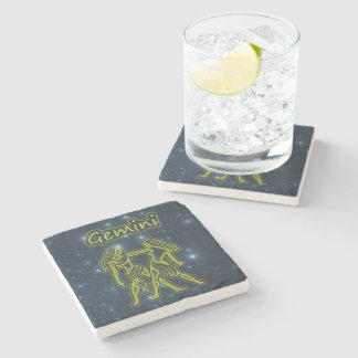 Bright Gemini Stone Coaster