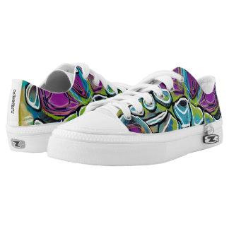 Bright Geometric Art Shoes Printed Shoes