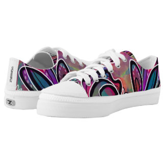 Bright Geometric Art Shoes Printed Shoes