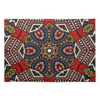 Bright geometric cotton  table place mats