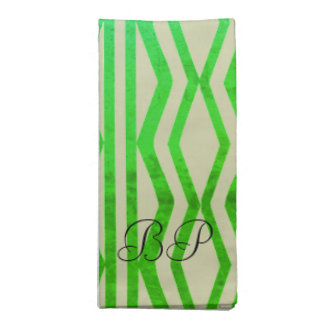 Bright Geometric Mint Green Patterned Napkin
