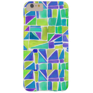 Bright Geometric Shapes Blue Green Purple Hipster Barely There iPhone 6 Plus Case