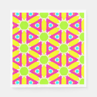 Bright Geometrical Pattern Disposable Napkins
