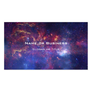 Bright Glowing Galaxy in Outer Space Pack Of Standard Business Cards
