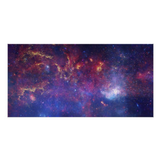 Bright Glowing Galaxy in Outer Space Poster