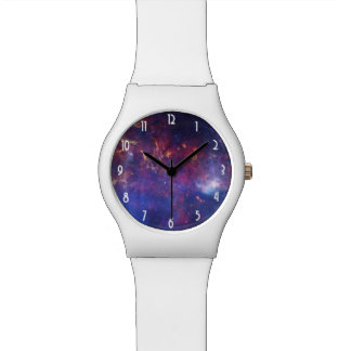 Bright Glowing Galaxy in Outer Space Wrist Watches