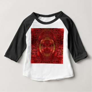 Bright Gold and Orange 3D Pattern Design Love Baby T-Shirt