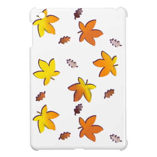 Bright Golden Falling Autumn Leaves Cover For The iPad Mini