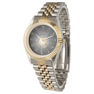 Bright golden Libra Watch