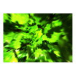 Bright Green Abstract. Business Card