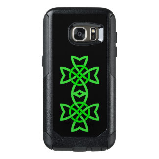 Bright Green Abstract Celtic Irish Double Knot OtterBox Samsung Galaxy S7 Case