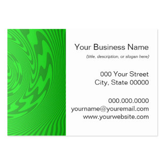 Bright Green Abstract Design Pack Of Chubby Business Cards