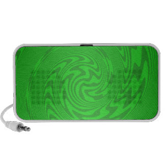 Bright Green Abstract Design Speakers