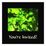Bright Green Abstract. Invitations