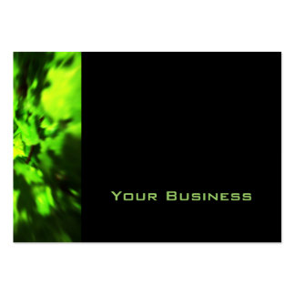 Bright Green Abstract. Pack Of Chubby Business Cards