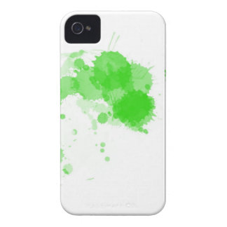 Bright Green Abstract Paint Splatter Splodge iPhone 4 Cases