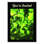 Bright Green Abstract. Personalized Announcement