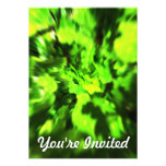 Bright Green Abstract. Personalized Invite