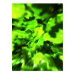 Bright Green Abstract. Post Card