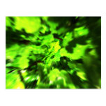 Bright Green Abstract. Post Cards