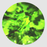 Bright Green Abstract. Sticker