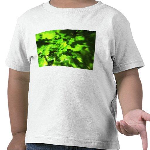 Bright Green Abstract. Tee Shirt