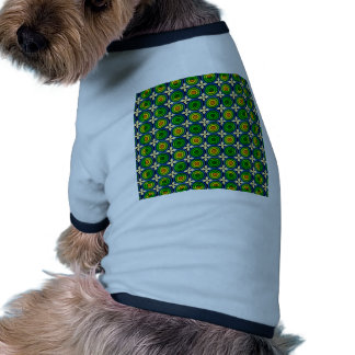 Bright Green and Gold Pet T Shirt