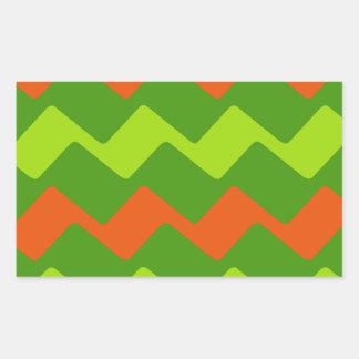 Bright Green and Oranges Sticker