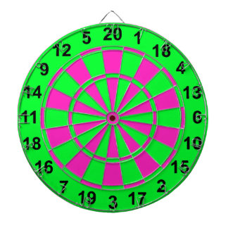 Bright Green and Pink Dartboard
