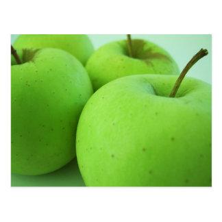 Bright Green Apples Postcard