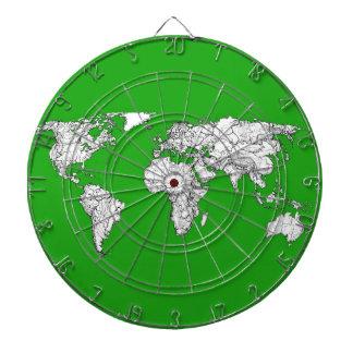 bright green atlas world map ink drawing art.jpg dartboard