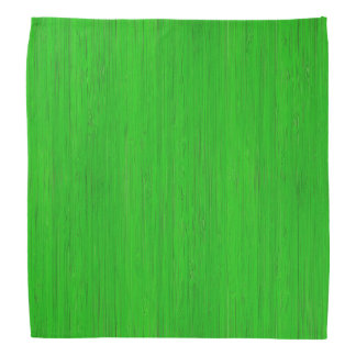 Bright Green Bamboo Wood Grain Look Bandana