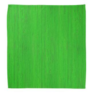 Bright Green Bamboo Wood Grain Look Bandannas