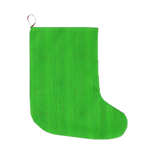 Bright Green Bamboo Wood Grain Look Large Christmas Stocking