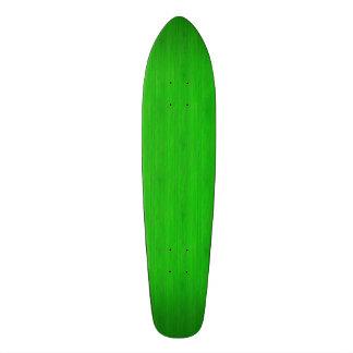 Bright Green Bamboo Wood Look Skate Board