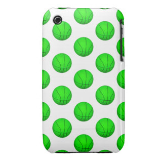 Bright Green Basketball Pattern iPhone 3 Covers