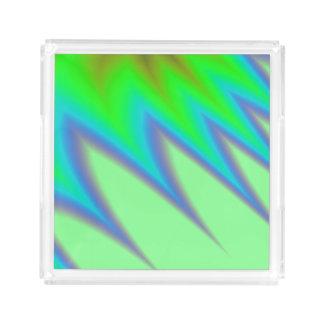 Bright Green Blue Peak Acrylic Tray