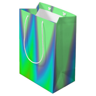 Bright Green Blue Peak Medium Gift Bag