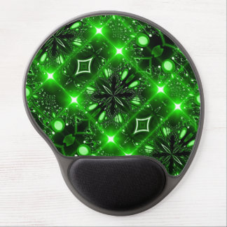 Bright green brilliant light gel mouse mat