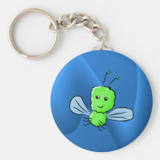 Bright Green Bug Flying Insect Key Chain