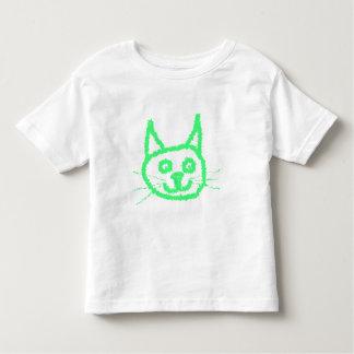 Bright Green Cat. Toddler T-Shirt