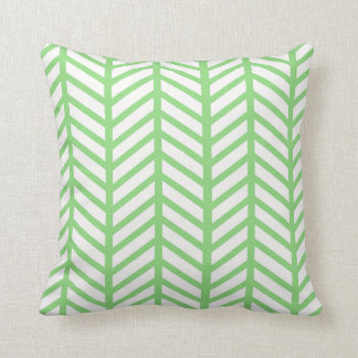 Bright Green Chevron Folders Throw Pillow